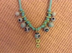 felt necklace aqua 4